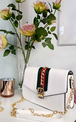 View the Sorsha Gold Chain Stripe Cross Body Bags online at iKrush