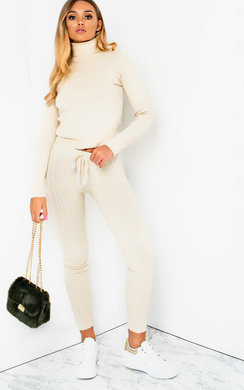 View the Stacey Cable Knit Lounge Co-ord online at iKrush