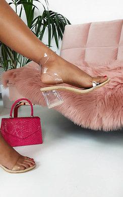 View the Steffi Perspex Block Heels online at iKrush