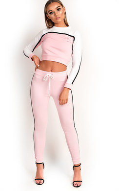 View the Stila Stripe Cropped Tracksuit online at iKrush
