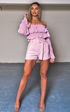 View the Stormi Off Shoulder Frill Crop Top online at iKrush