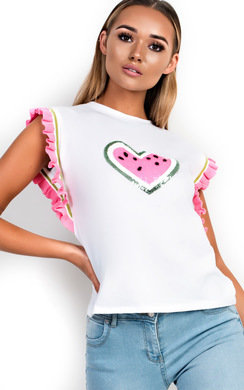 View the Susie Frill Heart Embellished T-Shirt online at iKrush