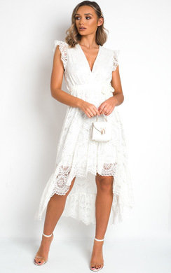 View the Sydney Lace Tie Waist Maxi Dress online at iKrush