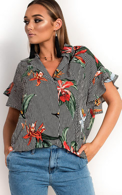 View the Tabbie Tropical Oversized Shirt  online at iKrush