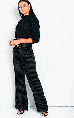 View the Tallie High Waist Belted Wide Leg Trousers online at iKrush