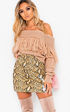 View the Tallie Off Shoulder Knitted Jumper online at iKrush