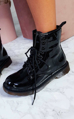 View the Tallulah Lace Up Biker Boots online at iKrush
