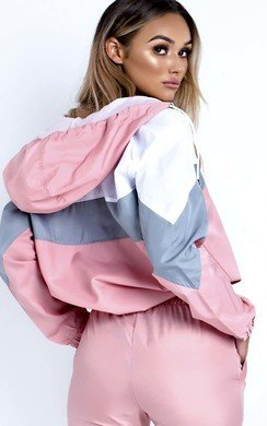 View the Tamara Colour Block Tracksuit Jacket online at iKrush