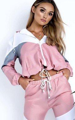 View the Tamara Colour Block Tracksuit Jacket online at iKrush