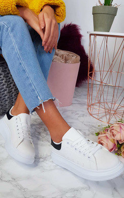 View the Tammi Faux Leather Trainers  online at iKrush