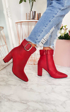 View the Tani Buckle Block Heel Ankle Boots online at iKrush