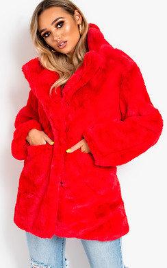 View the Tara Faux Fur Coat online at iKrush