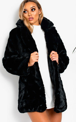 View the Tara Faux Fur Coat online at iKrush