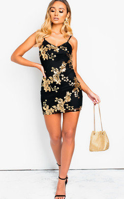 View the Tarrah Sequin Bodycon Mini Dress online at iKrush