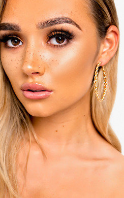 View the Tasha Chain Hoop Earrings  online at iKrush