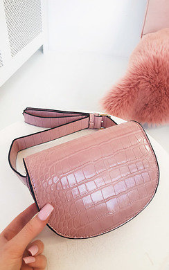 View the Tasha Faux Leather Croc Print Bum Bag online at iKrush