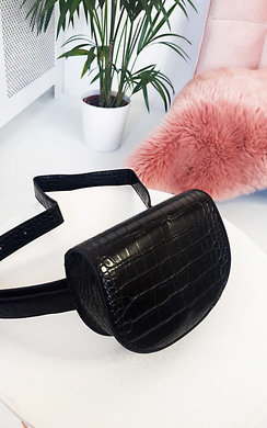 View the Tasha Faux Leather Croc Print Bum Bag online at iKrush