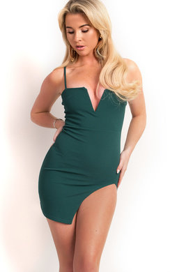 View the Tasha Side Split Bodycon Dress online at iKrush