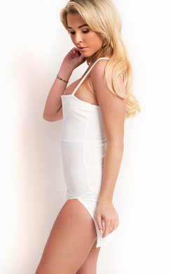 View the Tasha Side Split Bodycon Dress online at iKrush
