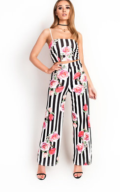 View the Tashie Floral Wide Leg Co-ord online at iKrush