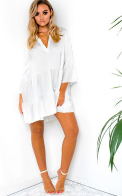View the Tayla Flare Smock Dress online at iKrush