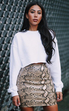 View the Tayler Faux Leather Skirt  online at iKrush