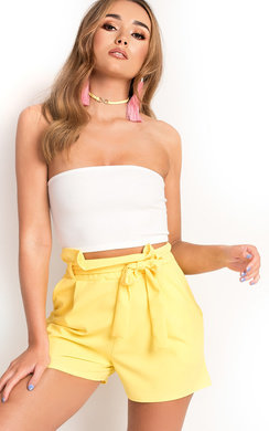 View the Teegan High Waist Shorts online at iKrush