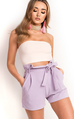 View the Teegan High Waist Shorts online at iKrush