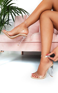 View the Tempany Barely There Perspex Heels online at iKrush