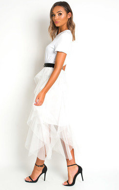 View the Tempany Tulle Midi Dress online at iKrush