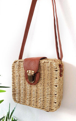 View the Teo Straw Box Handbag online at iKrush