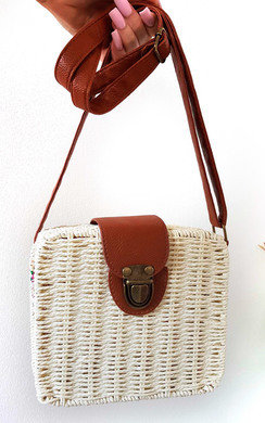 View the Teo Straw Box Handbag online at iKrush