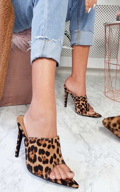 View the Tess Peep Toe Mule Heels online at iKrush