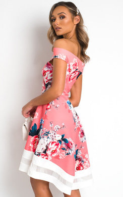 View the Tessa Off Shoulder Midi Dress online at iKrush