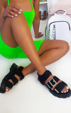 View the Tessi Chunky Buckle Sandals online at iKrush