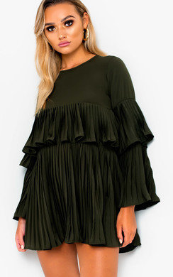 View the Tessy Frill Shift Dress online at iKrush
