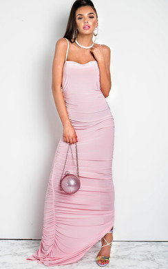 View the Tia Slinky Side Split Maxi Dress online at iKrush