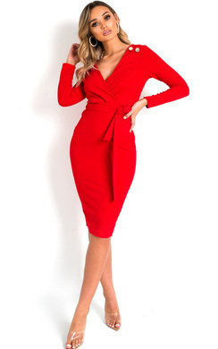 View the Tia Tie Waist Midi Dress  online at iKrush