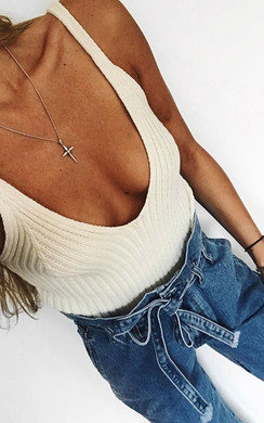 View the Tianna Knitted Crop Top online at iKrush