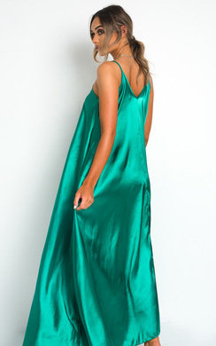 View the Tiffany Satin Maxi Slip Dress online at iKrush