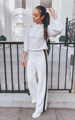 View the Tilda Side Stripe Wide Leg Trousers online at iKrush
