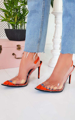 View the Tildi Patent Perspex Court Heels online at iKrush