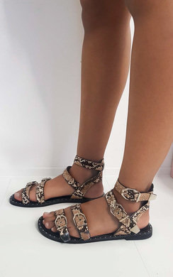 View the Tillie Double Strap Studded Sandals  online at iKrush
