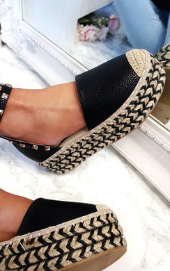 View the Tilly Studded Espadrille Wedge Sandal online at iKrush