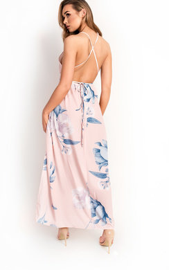 View the Tina Backless Floral Maxi Dress online at iKrush