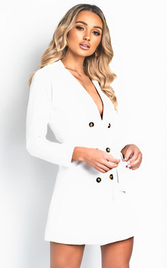 View the Tina Blazer Wrap Dress online at iKrush