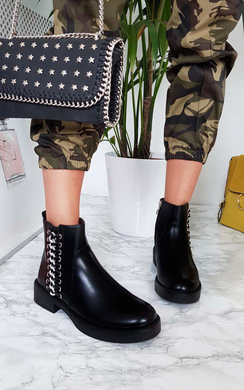 View the Tina Chain Ankle Boots  online at iKrush