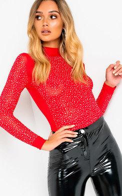 View the Tinashe Diamante Embellished Bodysuit online at iKrush