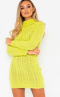 View the Toni Chunky Knit Long Sleeved Jumper Dress online at iKrush
