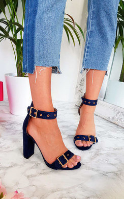 View the Tori Buckle Strap Sandal Heels online at iKrush